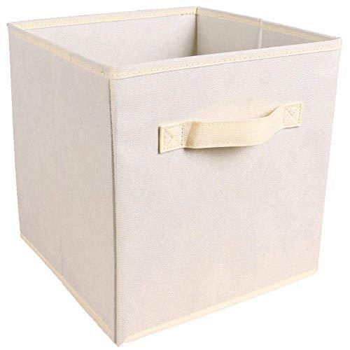 QUK Foldable Fabric Storage Box Cube Bins Cloth Organizer Storage Baskets Folding Kindergarten Closet Drawer Features Dual Handles | storage Bins | toys Storage Boxstorage Box Large