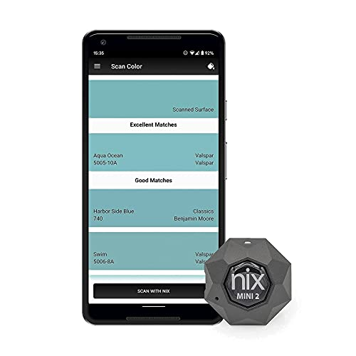 Nix Mini 2 Color Sensor - Portable Color Matching Tool - Identify and match paint and digital color values instantly