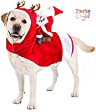 ZAILHWK Santa Christmas Pet Costumes,Santa Dog Costume Santa Claus Riding on Pet for Medium to Large Sized Dogs