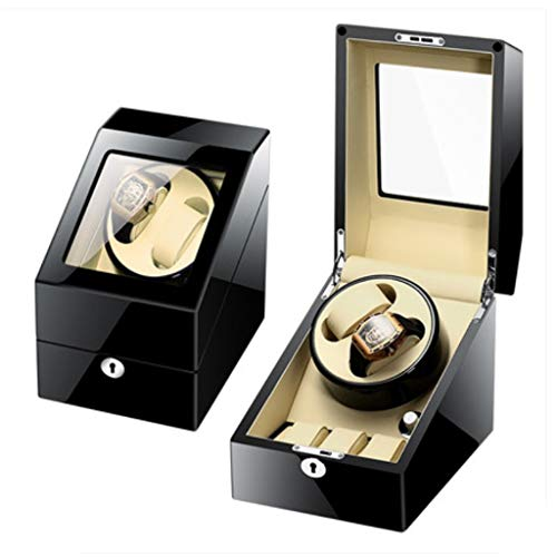 Automatic Watch Winder Box Auto Watch Winder Dual Watch Winders Leather Storage Display Watch Winder Case Automatic Rotation Winders