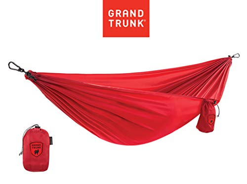 Grand Trunk Ultralight Camping Hammock - Lightweight and Portable Travel Hammock for Camping, Hiking, Backpacking, Beach, and Other Travel, Red