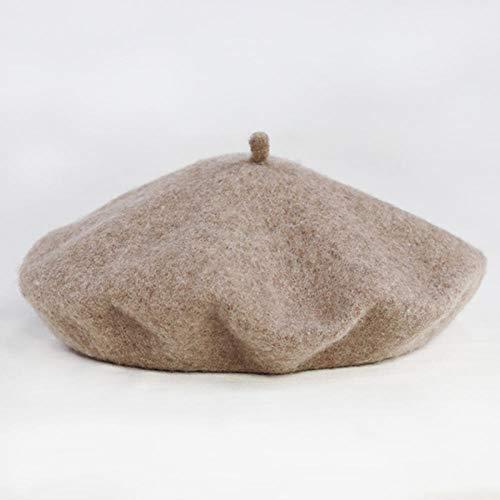 N-N Boina para Mujer Casual All-Match Painter Hat Sombrero De Calabaza Adecuado para Reuniones Deportivas Al Aire Libre, Vida Diaria, Etc.-Shallow_Mocha_M