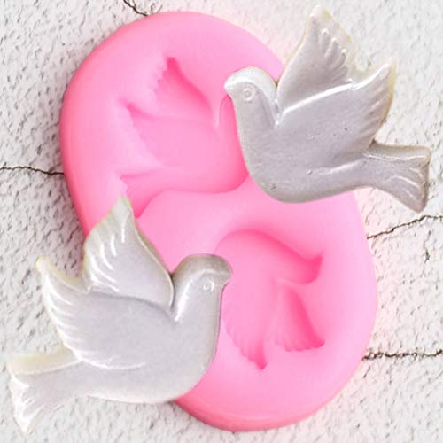 N/ A Molde de Silicona3DDIY Party Dove Chocolate Moldes para Hornear Cupcake Topper Fondant Herramienta de decoración de Pasteles Molde de Arcilla de Caramelo