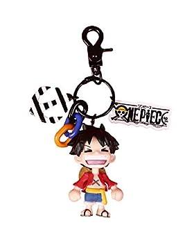 YJacuing Anime One Piece Luffy Figure Keychain  Black I
