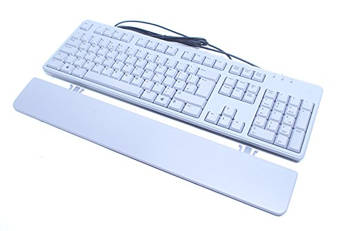 Genuine Dell USB Wired QWERTY 105 Key Grey UK English Keyboard and Palmrest Compatible Dell Part Numbers: 0WJN9, 00WJN9, KB212-PL