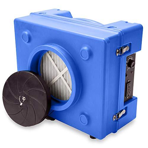 B-Air RA-650 HEPA Air Scrubber Commercial Industrial Grade Air Purifier Negative Air Machine for Water Damage Restoration, Blue