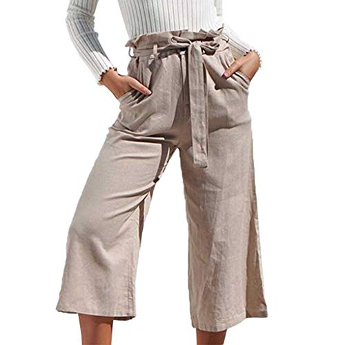 Damen Haremshose Jeans Leinenhose Verband outdoor Cargo Hose Latzhose Hohe Taille Freizeithose Strandhose Sommerhosen Weite Hosen Damensarouelhose Lange Hosen Jeans Pumphose Yoga Hose Sporthosen
