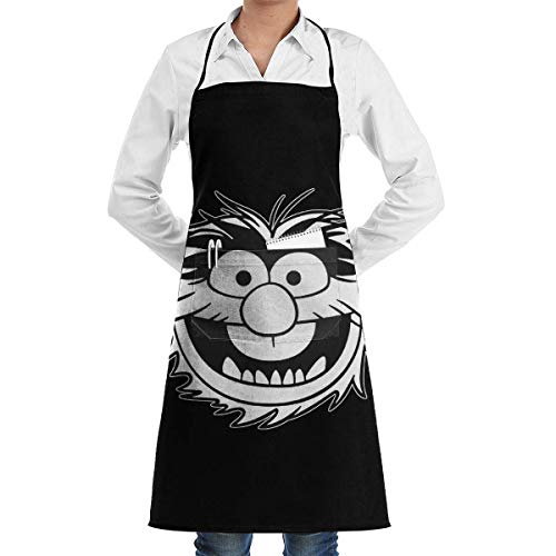 Yuanmeiju Muppet Animal Decal Grembiule with Pockets for Restaurant, Grembiuli for Women And Men