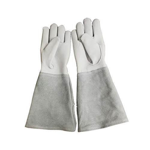 Gartenhandschuhe mit Dornenschutz, Ziegenleder-Gartenhandschuhe Handschuhe Schweißhandschuhe für Garten-, Fischerei-, Bau- und Restaurierungsarbeiten,M