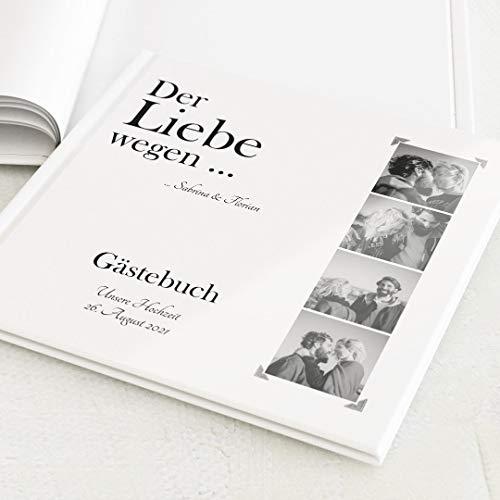 sendmoments Hochzeitsbuch mit Ihrem Wunschtext & -Bild, Fotos, hochwertige Blanko-Innenseiten, 32 Seiten oder mehr, Hardcover-Buch, quadratisch - Retro Collage