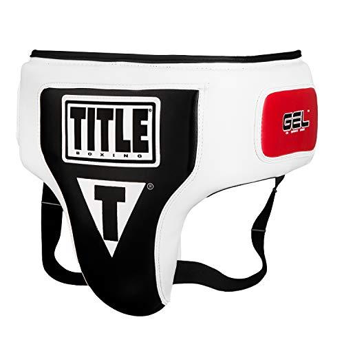 Title Gel Elite Groin & Ab Protector, White/Black, X-Large