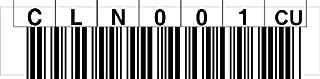 LTO Cleaning Label horizontal Numernkreis CLN001-CLN020