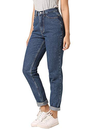 ruisin High Waist Boyfriend Jeans for Women Vintage Sexy Mom Jeans Denim Pants Blue 29 x L28 Louisiana