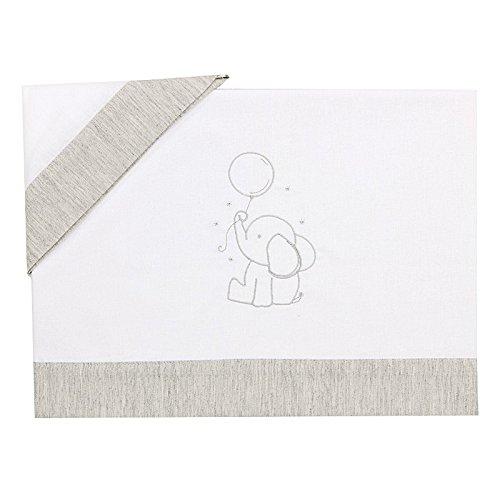 Bolín Bolón Baby - Sábanas de cuna, 60 x 120 cm, color gris
