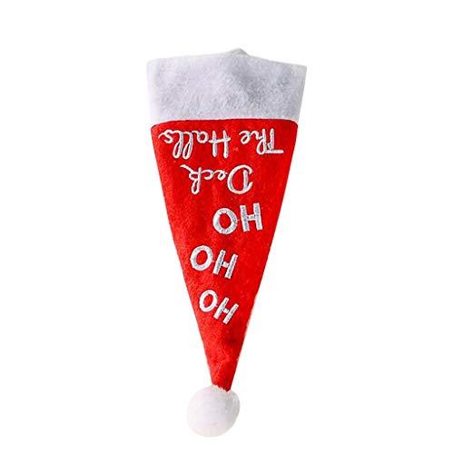 Muium(TM) - 10 mini gorros de Navidad para mesa de comedor y tenedor, decoración de Navidad, decoración de mesa de elfo para vajilla, piruletas, fruta, DIY Christmas Hats (A)