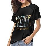 Hozier Women Short Sleeve Baseball T Shirts Casual Loose Blouse Tops M Black