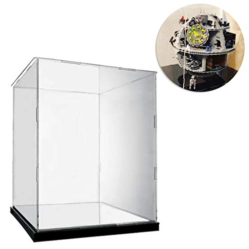 Seciie Acryl Vitrine Schaukasten HD Schön Display Case für Lego Star Wars Todesstern 75159 Death Star