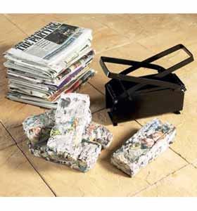 Brikett-Maschine (613) drehen Zeitungen in Kraftstoff, Grill, offenen Kaminen.