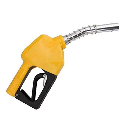 MagiDeal Combustible Gasolina Diesel Auto Delivery Pistola Dispensador de Manguera de Boquilla - Amarillo