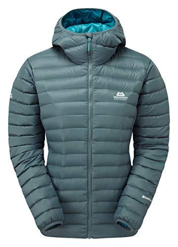 Mountain Equipment W Arete Hooded Jacket Grau, Damen Daunen Freizeitjacke, Größe L - 14 - Farbe Moorland Slate