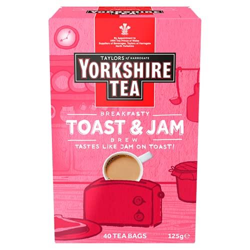 Yorkshire Tea Toast & Jam Brew Flavoured Tea Bags, Pack of 4 (Total of 160 Tea Bags)