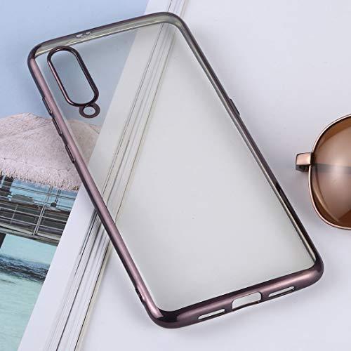 EASON Caso de la contraportada -Ultra-Delgada de galvanoplastia TPU de protección for Xiaomi MI 9 (Plata) Cubierta de teléfono (Color : Black)