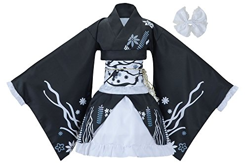 Sheface Women's Cosplay Lolita Fancy Dress Japanese Kimono Anime Costumes (Small, P04 Black)