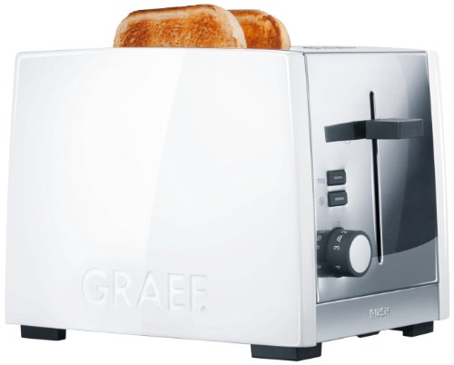 Graef Toaster TO 81, roestvrij staal, wit
