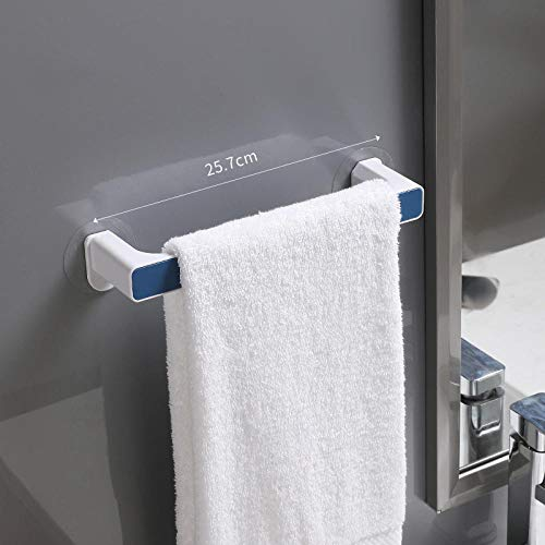 Perchero para toallas Colgador de toallas montado en la pared Barra de toallas para baño Estante Soporte para rollo Gancho para colgar Organizador de baño-azul S