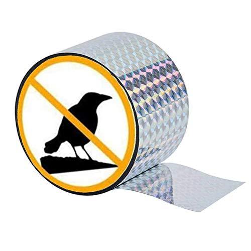 AMOE Reflektierendes Vogelabwehrband, 106m x 5cm Abwehrband Vogel Band Reflexion gegen Schädlingsbekämpfung zur Abwehr von Vögeln für den Garten(350ft)