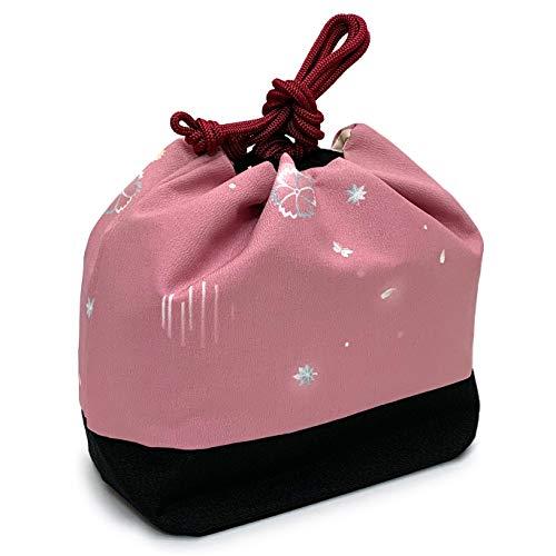 [京都室町st.] 巾着 和装バッグ 卒業式の袴やカジュアルな装いに 小紋柄の巾着 単品yu「ピンク、紅葉」KIN813