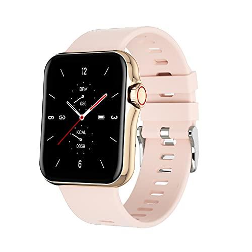 Relojes inteligentes para hombres y mujeres, reloj inteligente para teléfonos Android y teléfonos iOS, pantalla táctil completa de 1.6 ', podómetro a prueba de agua IP67, reloj fitness tracker con m
