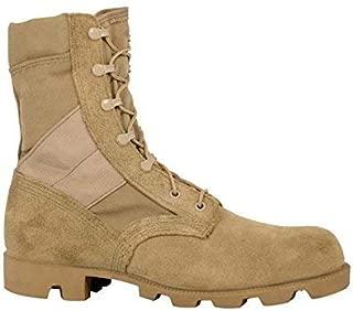 McRae Mens Desert Tan Suede/Cordura Hot Weather Panama Military Boots-Size 6 Narrow 6N Mens