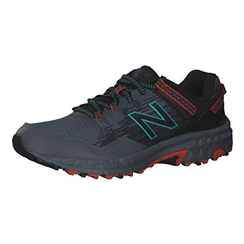 New Balance 410v6 Trail Scarpe Da Trekking H, Hombre, Negro (Grey/Orange), 43 EU