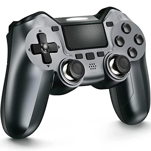TERIOS Controller Kompatibel mit PS-4, Gaming Controller für PS-4 Pro, Slim - Eingebauter Lautsprecher und Stereo-Headset-Buchse-Erweiterte Tastenprogrammierung, Auto Fire Turbo, Taste