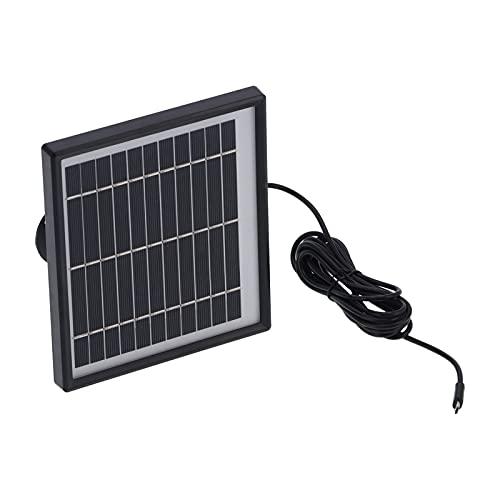 Paneles solares, conectar a través de USB Seguridad inalámbrica Panel solar Ahorro de energía y protección del medio ambiente para el hogar Interior/exterior para cámara de seguridad