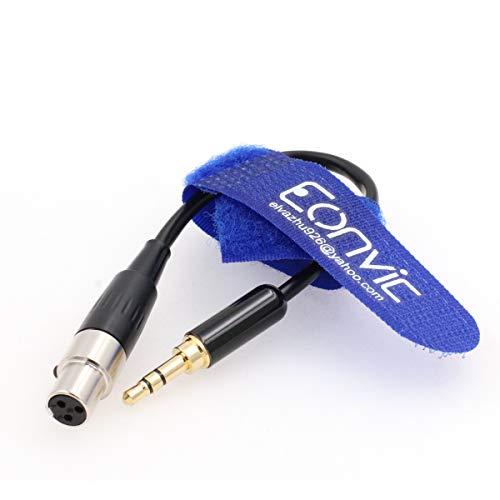 Eonvic - Cable de audio macho TRS de 3,5 mm a conector mini XLR hembra de 3 pines para auriculares AKG, 30 cm