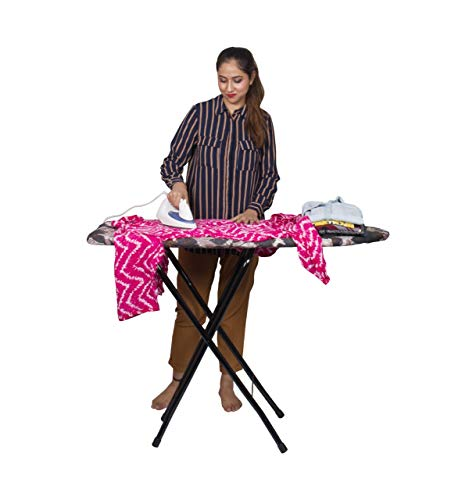 Parasnath Heavy Folding Large Ironing Board Table 18' X 48' (Colour May Vary, Multi-Color) Lifetime Warranty Made in India