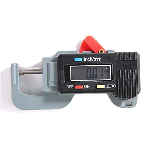 Medidor de Espesor-Samfox Medidor de Espesor Digital Micrómetro electrónico Micrómetro electrónico de Acero Medidor de Espesor Horizontal