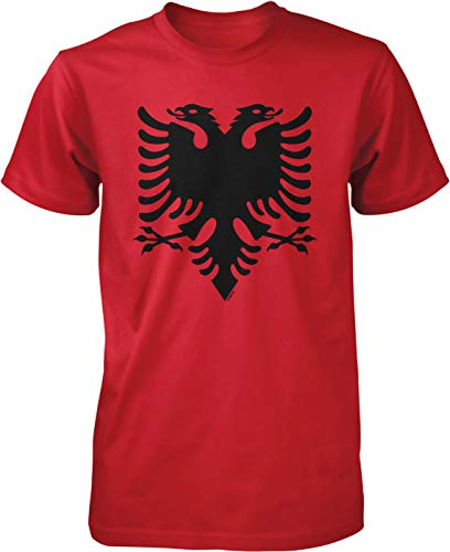 NOFO Clothing Co Albania Double Headed Eagle Men's T-Shirt, L Red