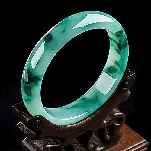 Brazalete de Esmeralda Jadeíta pulida en Jade Natural - Verde Claro -
