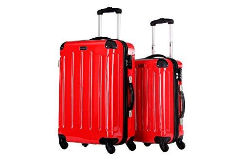 Packenger Koffer 2er-Set, M/L, Rot