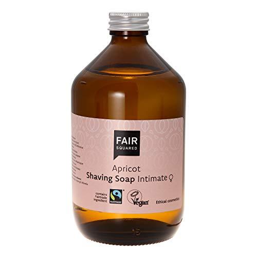 FAIR SQUARED Shaving Soap Apricot Rasur Seife Aprikose ZERO WASTE 500 ml, zertifizierte Naturkosmetik