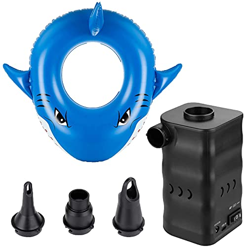 EIKLIM Inflatable Swim Rings and Portable Elecrtric Air Pump, Swim Rings for Kids or Adults, Best Pool Party for The Beach, Party, Vacation