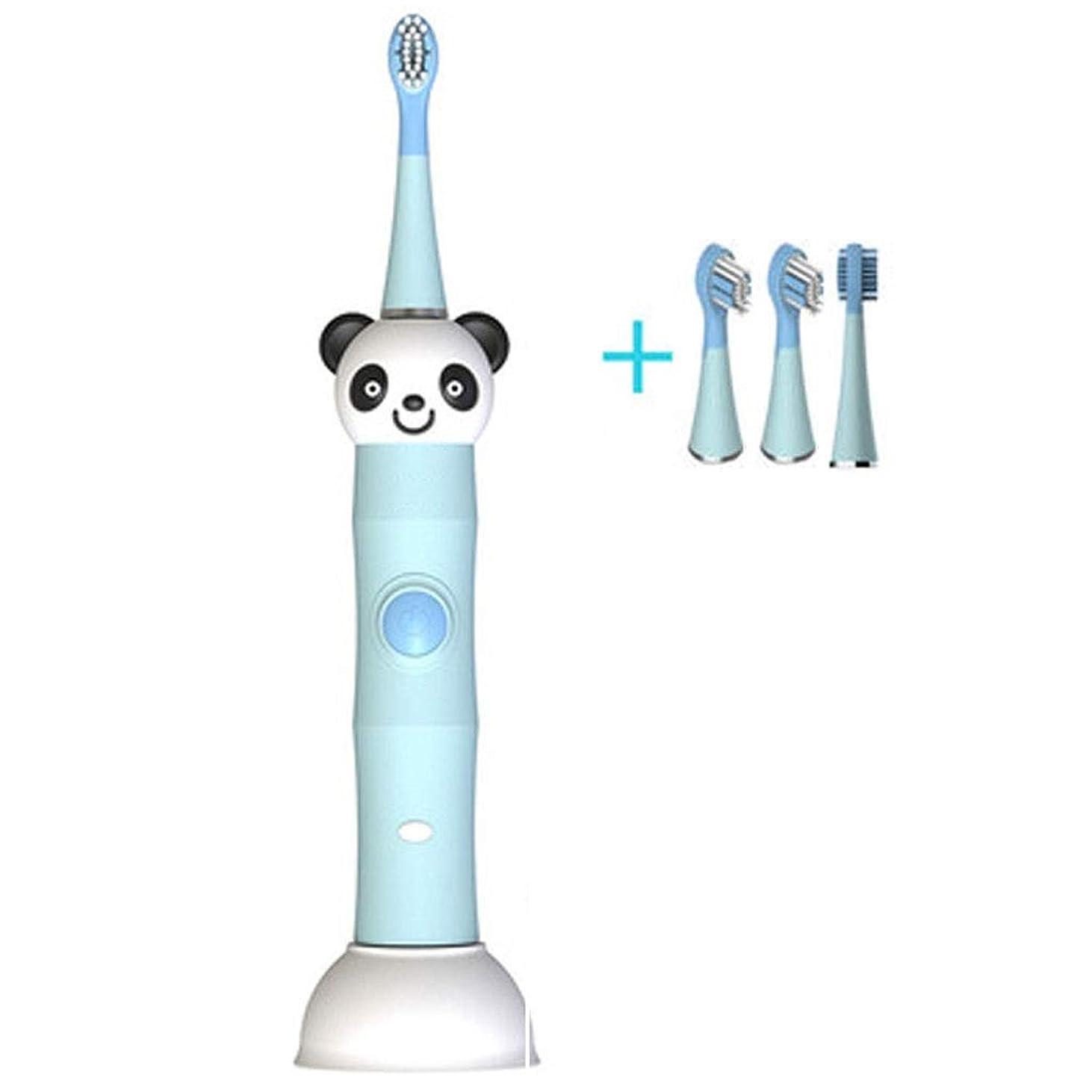 合金見て見てDMIZ 電動歯ブラシ、交換可能な2つのブラシヘッドを備えた音波歯ブラシ、ワンボタン制御、低ノイズ、誘導充電、防水型IPX7、デュポンソフトブラシ、31000振動、子供用