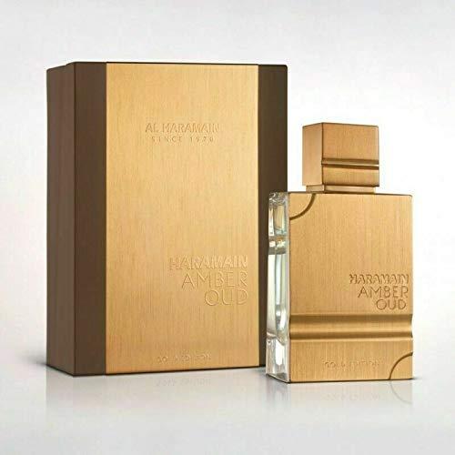Amber Oud, Tabaco perfume edición oro 60ml hombres mujeres perfume oud aroma ámbar, almizcle, picante, sándalo (ámbar Oud-Gold)