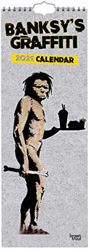 Banksy 2021: Original BrownTrout-Kalender - Slimline