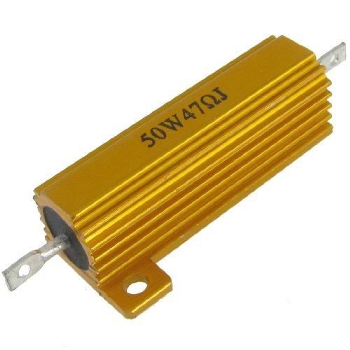 DealMux 50W 47 Ohm no chassis de alumínio resistor para Arena Áudio