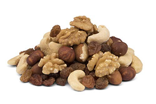 Mezcla de frutos secos orgánicos con sultanas sin aceite 1 kg BIO sin azúcar, con anacardos crudos sin tostar, nueces, almendras, nueces de Brasil y avellanas 1000 g