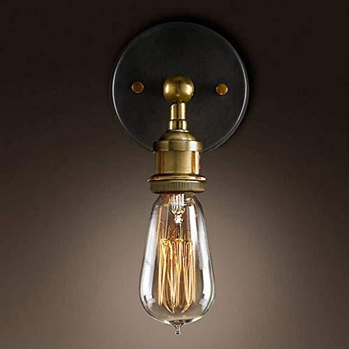 L-YINGZON Led aplique de la pared E27, aplique de la pared ajustable Compatible with hierro aplique de la pared Retro 4w Compatible with la sala de luz-1 Lámpara de interior decorativo
